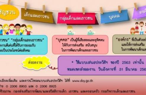กรมกิจการเด็กและเยาวชนพิจารณาคัดเลือกเด็กและเยาวชนดีเด่นแห่งชาติฯ เนื่องในวันเยาวชนแห่งชาติ ประจำปี 2563